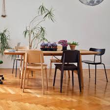 vitra chaise tout bois stuhl eiche natur filzgleiter