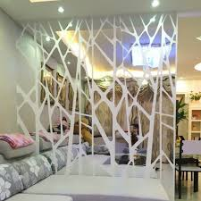 DIY Creative Geometric Patterns Mirror Surface Wall Sticker For Dining Room Living Decoration Decor