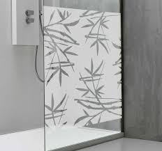 klebefolie dusche bambus dusche durchsichtig