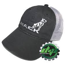 100 Mack Truck Hat S Diesel Black Grey Summer Mesh Back Ball Cap Hat