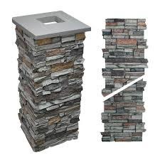 Faux Stone Column Post Wraps Gray 36