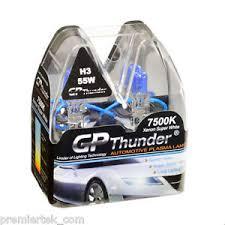 gp thunder ii 7500k h3 xenon halogen light bulb 55w pair