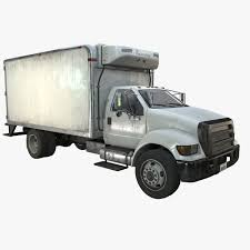 3D Model Refrigerator Truck Game Ready PBR Textures VR / AR / Low ...