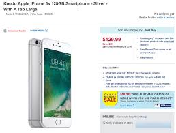 Koodo Deal iPhone 6s 128GB for $633 Outright  f vs Apple