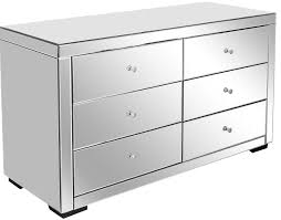 Hayworth Mirrored 3 Drawer Dresser by Furniture White Mirrored Chest Of Drawers With Three Drawer Plus