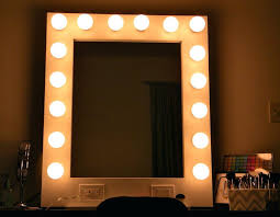 lights lighted makeup mirror wall mount led mounted hardwired