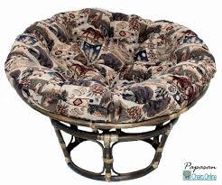 Papasan Chair Cushion Cover by Furniture Single Papasan Chair 42 With Blue Micro Suede Cushion