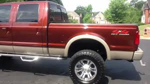2008 F250 King Ranch Lifted - YouTube
