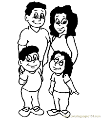 Family Coloring Page 11