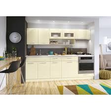 cuisine complete meubles cuisine complète moderna vanille laqué 2m40 7 meubles