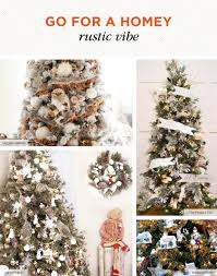 Rustic Christmas Tree Decoration Ideas