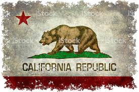 California Republic State Flag With Vintage Textures And Edges Royalty Free
