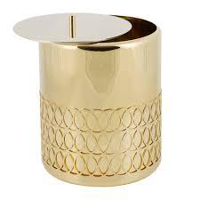 new york waste basket gold