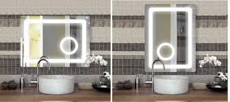 badspiegel power led gerundet mit integriertem