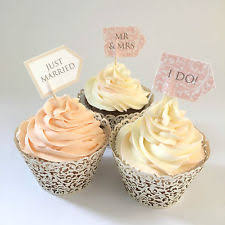 Wedding Cupcake Toppers Personalised