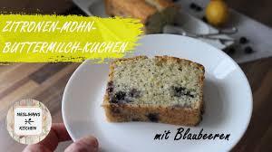 zitronen mohn buttermilch kuchen mit blaubeeren lemon poppy seed loaf limonlu haşhaşlı baton kek