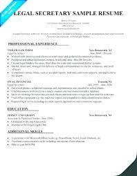 Legal Assistant Resume Samples Administrative Secretary Sample