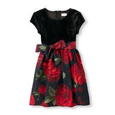 short sleeve velour bodice rose print dress the children u0027s place