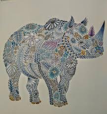 Millie Marottas Animal Kingdom Rhino With Faber Castell Pencils CastellAnimal KingdomColoring BooksRhinosPencilColoring