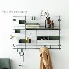 Modern Design Wall Mounted Loft Metal Display Show Shelf Shelves Fashion Decoration Rack Storage