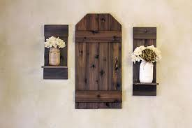 Rustic Barn Door Mini Wood Shutters Wall