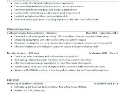 Examples Of Resume Objectives For Customer Service Objective Services Job
