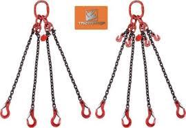 baugewerbe anschlagkette kettengehänge 4 strang 6mm kette