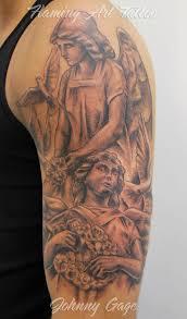Angel Shoulder Tattoo For Guys