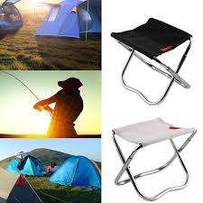 Outdoor Camping Fishing Aluminum Alloy Folding Stool Portable ... Amazoncom Yunhigh Mini Portable Folding Stool Alinum Fishing Outdoor Chair Pnic Bbq Alinium Seat Outad Heavy Duty Camp Holds 330lbs A Fh Camping Leisure Tables Studio Directors World Chairs Lweight Au Dropshipping For Chanodug Oxford Cloth Bpack With Cup And Rod Holder Adults Outside For Two Side Table
