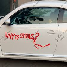100 Funny Truck Pics Why So Serious Joker Dark Knight Car Decal Sticker Vinyl