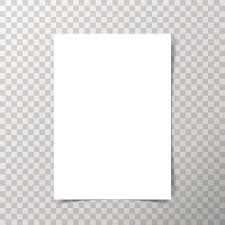 Vector A4 Format Paper With Shadows On Transparent Background Art Illustration