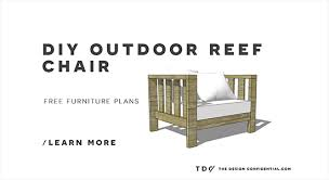 free diy furniture plans how to build an outdoor reef chair with