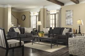 Grey Brown And Turquoise Living Room by Grey Living Room With Brown Leather Couch Iammyownwife Com
