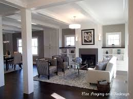 I Love These Dark Hardwood Floors And The Contrast W Area Rug Living Room