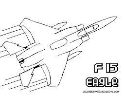 Supersonic Airplane Printout Coloring Pages Book For Boys