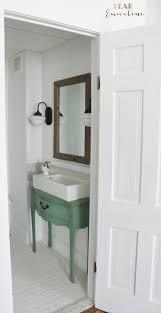 Ikea Lillangen Bathroom Mirror Cabinet by Narrow Half Bathroom Reveal 1910 Home Renovation