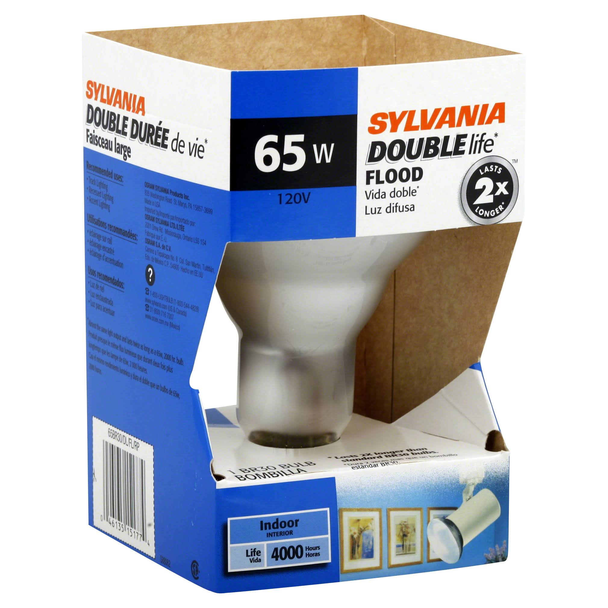 Sylvania Light Bulb - 120V, Soft White, 65W