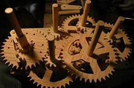 wooden gear clock 9 steps with pictures