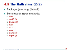 Math Ceil Floor Java by Cs1020 Data Structures And Algorithms I Lecture Note 1 Ppt