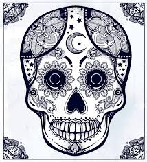 Easy Sugar Skull Day Of by Hand Drawn Day Of The Dead Holiday Dia De Los Muertos In Spanish