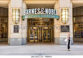 Chicago USA May 30 2016 Entrance to Barnes and Noble bookstore in