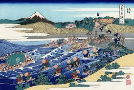 the fuji from kanaya on the tokaido jpg trente six vues du mont