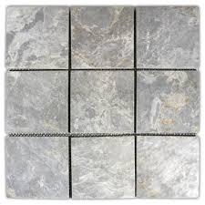 Hover Show Light Grey 4x4 Stone Mosaic