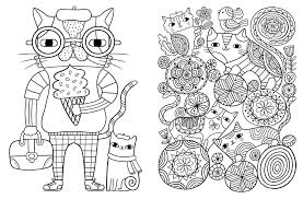 Posh Adult Coloring Book Cats Kittens For Comfort Creativity