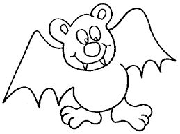 Stylish And Peaceful Bat Coloring Pages To Print Easy Color Sheets