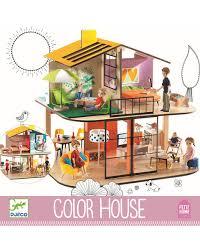 puppenhaus colour house in bunt
