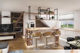 100 Modern Interior Design Blog Natural Kitchen With A Modern Kitchen Island 3D