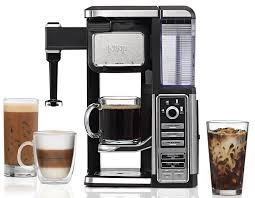 Amazon Ninja Single Serve Pod Free Coffee Maker Bar With Hot And Iced Auto IQ Built In Milk Frother 5 Brew Styles Water Reservoir