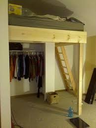 diy loft bed with closet underneath google search ideas for