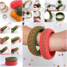 Wonderful DIY Unique Woven Yarn Bangles